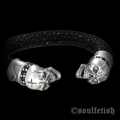 Skull Guards Black Cuff
