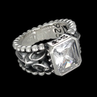 Silver Large Stone Ring