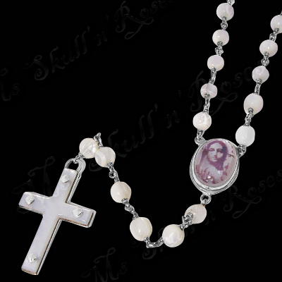 White Bead Rosary