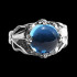 Blue Ace of Hearts Ring