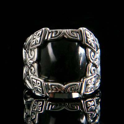 Pirate Black Knight Ring