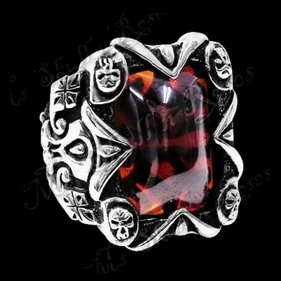Jolly Garnet Silver Ring