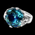 Blue Topaz Candy Ring