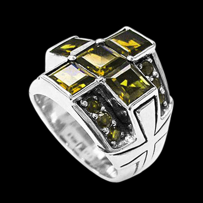 Preacher Cross Citrine Ring