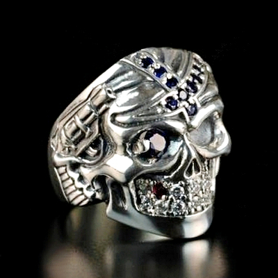 Silver Easy Blue Rider Ring