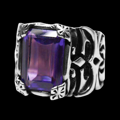 Step Deco Amethyst Ring