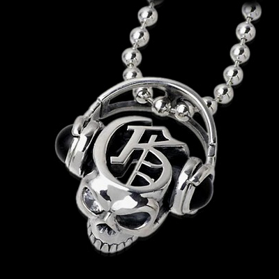 Onyx Skull Jams Necklace