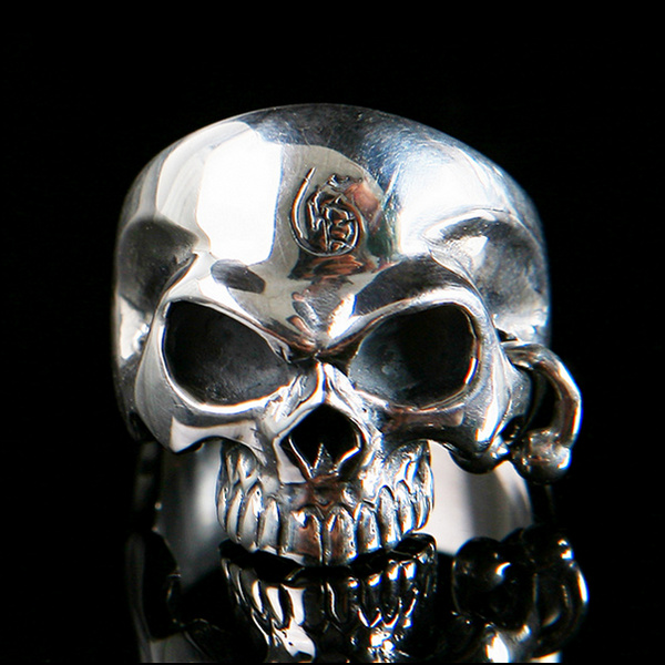 Half Skull with Piercing Ring