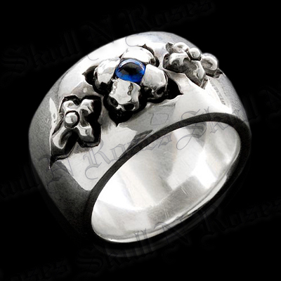 Skull Pedals Band Ring