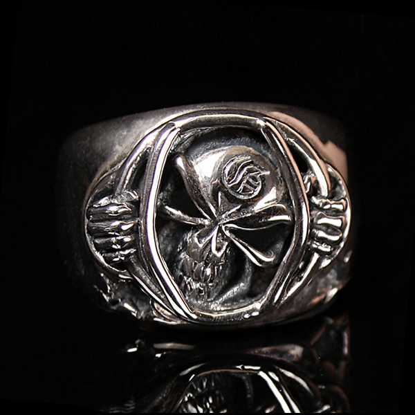 Behind Bars Skull Ring