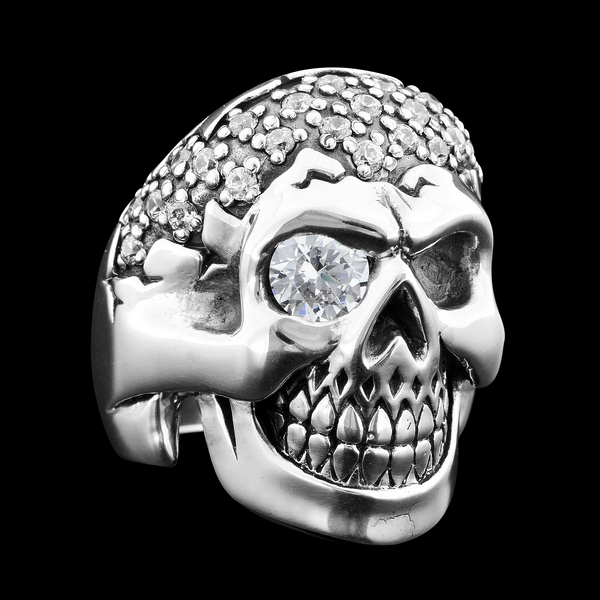 Big Boy CZ Skull Ring
