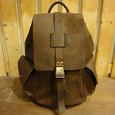 W Road Trip Leather Backpack