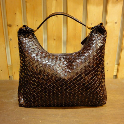 Woven Leather Handbag