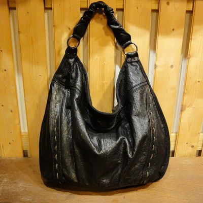 W SNR Black Leather Handbag