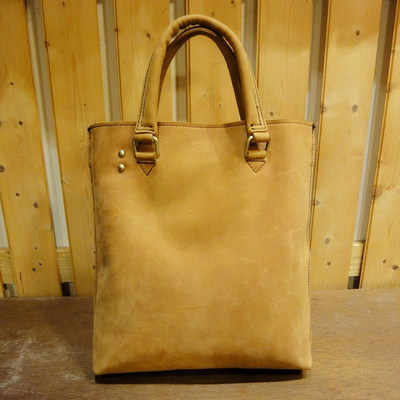 W Spring Tan Leather Handbag