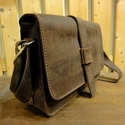 Rustic Traveler Leather Satchel