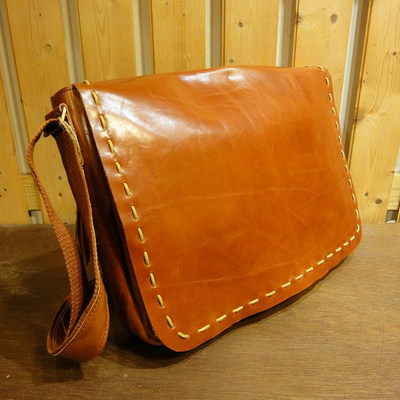 Retro Leather Messenger