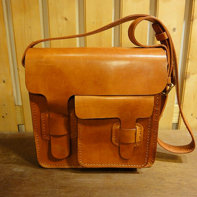 Saddle Leather Messenger Bag No.6