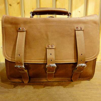 Dark Jo Leather Briefcase