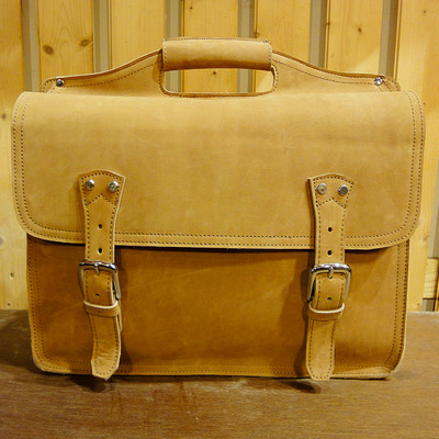 Briefcase Sky Leather Messenger