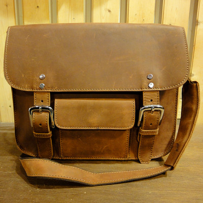 Brown West Leather Messenger