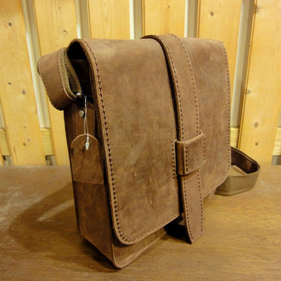 Leather Satchel Rustic Express