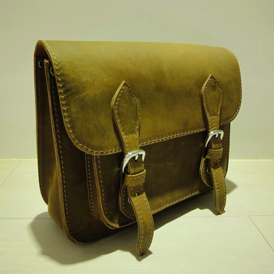 Classic Full Grain Leather Satchel