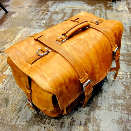 Leather Duffle Bag XXL