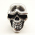 Fight Flight Skull Ring