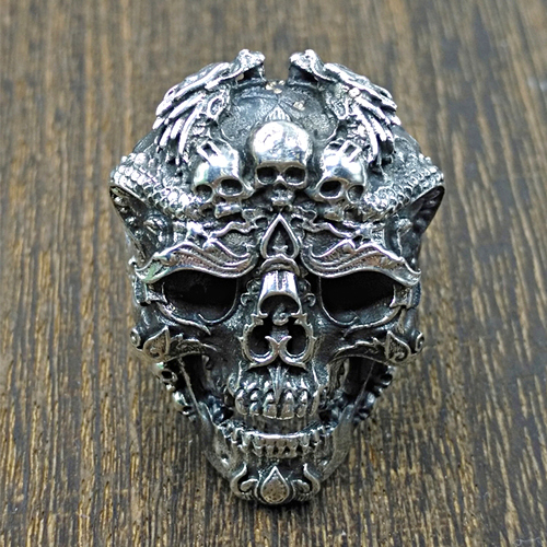 Skull Wreath Ring 925
