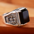 Black Stone Peace Ring