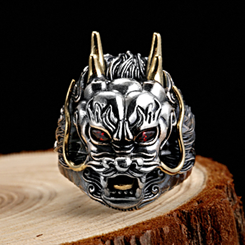 Two Tone Far East Dragon Ring