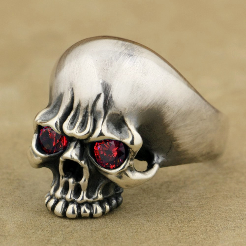 Burning Red Skull Ring