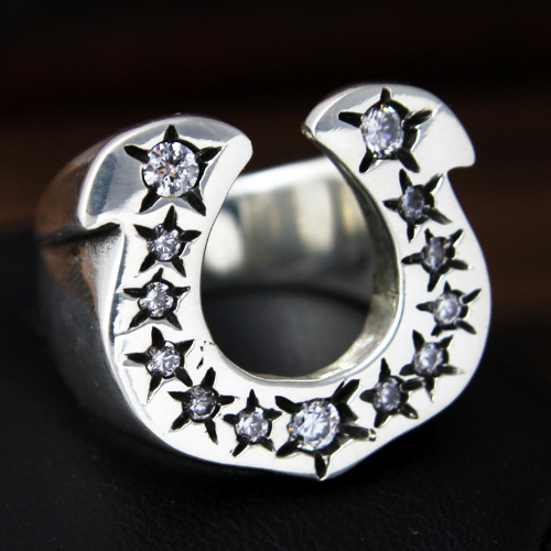 Lucky Silver Horseshoe Ring