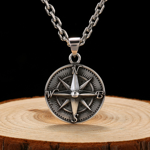 Sterling Compass Pendant